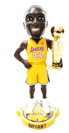 28a0e58a71b LOS ANGELES LAKERS KOBE BRYANT NBA OFFICIAL 2010 CHAMPIONSHIP TROPHY  BOBBLEHEAD BOBBLE