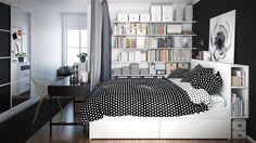 40 Beautiful Black & White Bedroom Designs