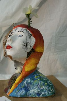 """""""Who I Am"""" a mixed media sculpture By: HollyAnne Black"""
