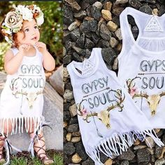 Gypsy Soul baby fringe dress - The Pine Torch. Baby girl must haves, boho baby fashion, baby girl clothes