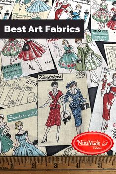 Fabric Cotton 1 12 x 35 inches Dancers Drama Vintage