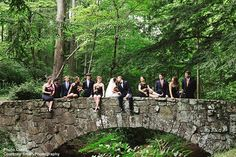 This bridal party shot from a wedding at The Sewanee Inn is so gorgeous! We can't get over all the amazing greenery on this property! Click the image link to call them about your wedding. Image credit: Courtney Smith Photography.