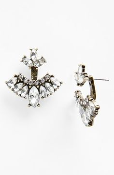 'Mariposa' Crystal Feather Ear Jackets