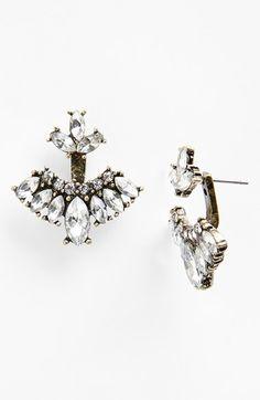 'Mariposa' Crystal Feather Ear Jackets
