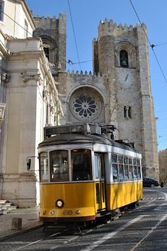 Lisbon - The Cathedral in the background. L I S B O A - Portugal Algarve, Beautiful Places In The World, Wonderful Places, Places To Travel, Places To See, Travel Around The World, Around The Worlds, Portuguese Culture, Spain And Portugal