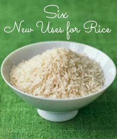Discover six new uses for rice | www.inspirationformoms.com #sixonsaturday #newusesforthings #rice