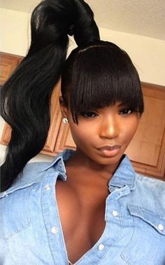 Genie Ponytail Extended With Bang Bombhairdesigns