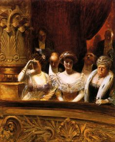 A Private Box at the Opera, by Albert Guillaume (French, 1873-1942)