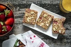 Thug Kitchen Strawberry Oat Bars - Vegan Recipe