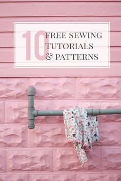 Get ready for summer with these 10 free beginner sewing tutorials and patterns for clothes, bags, pillows, and more! Some include free patterns, too!