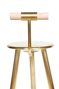Erickson Æsthetics Brass Stool Modern Living Supplies