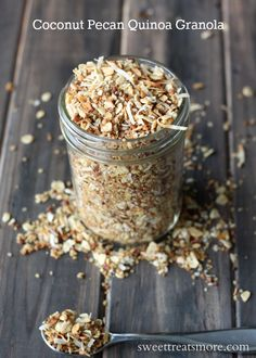 "Coconut Pecan Quinoa Granola Recipe - from ""50 of the BEST Quinoa Breakfast Recipes"""