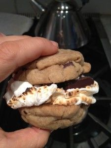 Gluten, Dairy, Soy, Nut and Egg-Free Chocolate Chip Cookie S'More Sandwiches