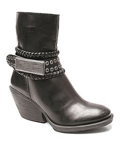 Look what I found on #zulily! Black Ted Bootie by Two Lips #zulilyfinds