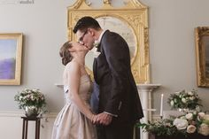 Dawn and Cian's kiss in the elegant setting of Timeless elegance. Wedding venue in the heart of Dublin. Wedding photography by PK Paul Kelly, Irish Wedding, Bridesmaid Dresses, Wedding Dresses, Photography Services, Timeless Elegance, High Quality Images, Dublin, Big Day