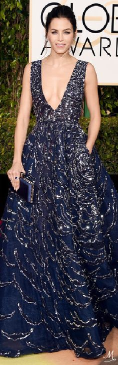 2016 Golden Globes Red Carpet Arrivals   Jenna Dewan-Tatum in Zuhair Murad and Lorraine Schwartz jewelry.