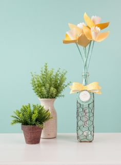 3D Floral Home Decor Cricut cartridge -- Daffodil flowers. Make It Now in Cricut Design Space