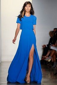 cerulean blue gown - beautiful!