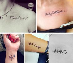 Cute Small Tattoos For Girls With Their Meanings: Tiny Heartbeat Tattoos