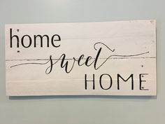 Rustic sign 'Home sweet Home' painting. Home decor. Kitchen decor, pallet signs,home sweet home sign, by Rusticpalletshop1 on Etsy