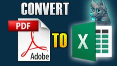 HOW TO CONVERT PDF TO EXCEL Pdf, Hacks, Technology, Tips, Glitch, Engineering