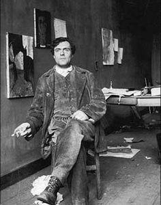 Amadeo Modigliani in his Studio (Atelier)