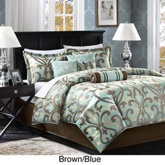 @Overstock - Get a luxurious night's sleep with this jacquard Madison Park comforter set. This set comes with everything you'll need to turn your bedroom into a sanctuary. The set's floral pattern is highlighted in two appealing color schemes to suit your tastes.http://www.overstock.com/Bedding-Bath/Madison-Park-Chinon-7-piece-Comforter-Set/7109586/product.html?CID=214117 $97.99