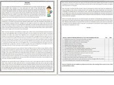 This Reading Comprehension worksheet is suitable for higher elementary to proficient ESL learners or native English speakers. The text is a summary/ short . Comprehension Exercises, Reading Comprehension Worksheets, Matilda, Roald Dahl Activities, Clock Worksheets, Summary, Learn English, Esl, Speakers