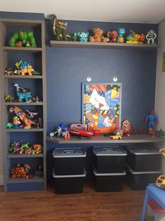 Kids Room Bed, Boy Toddler Bedroom, Toddler Playroom, Kids Room Paint, Toddler Rooms, Baby Boy Rooms, Little Girl Rooms, Kids Bedroom, Bedroom Decor