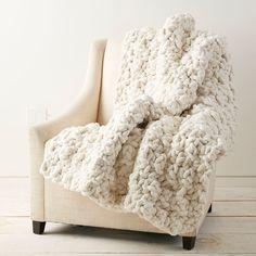 Loops & Threads® Jumbo Wood Crochet Hook and Bernat Blanket Big Yarn - Vintage 5 Ideas for Knitting Crochet Afghans, Afghan Crochet Patterns, Chunky Crochet Blanket Pattern Free, Chunky Crochet Blankets, Blanket Crochet, Knitting Patterns, Chunky Blanket, Blanket Yarn, Lap Blanket