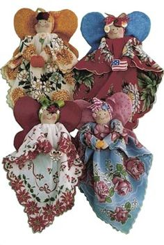 Angels from old handkerchiefs