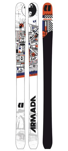 The Armada Kufo - New for 14/15, the KUFO is a lightweight backcountry touring ski built for fast ascents and unmatched downhill performance. Featuring EST All Mtn Rocker, the Kufo is the perfect balance for floating in deep snow and dominating variable terrain. The tail perfectly accommodates any skin clip and rounds out turns at high speeds.
