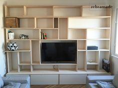 plywood bookshelf by willion.hu #plywood #bookshelf #bookshelves #minimal #playful #zebramade #custommade