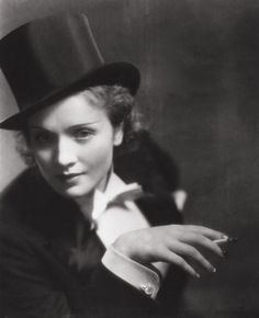 """I dress for the image. Not for myself, not for the public, not for fashion, not for men."" - Marlene Dietrich Photographed by Eugene Robert Richee"