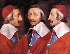 [show]Philippe de Champaigne (1602–1674)   English: Triple Portrait of Cardinal de Richelieu  Français : Triple portrait du Cardinal de Richelieu.