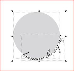 Text in a circle using Inkscape