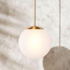 Vega Indoor-Outdoor Brass Pendant Light - All For Decoration Globe Pendant Light, Pendant Lamp, Bedside Pendant Lights, Sphere Light Fixture, Light Fixtures, Vegas Lights, Outdoor Pendant Lighting, Kitchen Lighting, Globe Lights