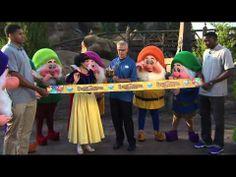 Seven Dwarfs Mine Train ribbon cutting at Disney's Magic Kingdom via Diaz Diaz Attractions Magazine. Disney Rides, Disney Parks, Walt Disney World, Trip Countdown, Seven Dwarfs Mine Train, Attractions In Orlando, Disney Princess Snow White, Disney Love, Disney Theme