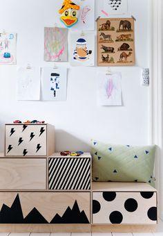 Dekorativ opbevaring på børneværelset