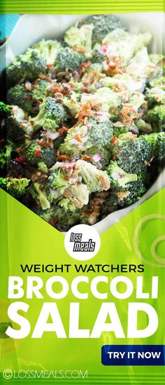 Weight Watchers Skinny Broccoli Salad!!! -