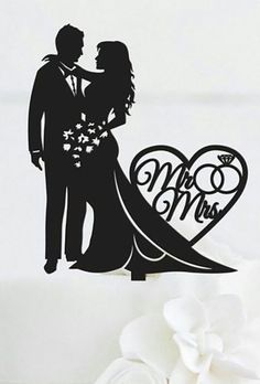 We create a list of the most romantic wedding cake toppers with stylish design. Look through it and pick the most exquisite topper for your wedding cake. Silhouette Cake, Couple Silhouette, Wedding Silhouette, Silhouette Clip Art, Wedding Art, Wedding Drawing, Purple Wedding, Gold Wedding, Floral Wedding