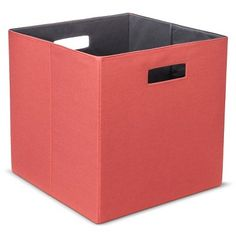 Threshold Storage Bin - Coral - $9.99 @ Target - Coral and Navy
