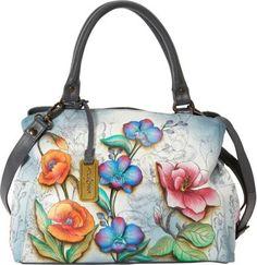 Anuschka Triple Compartment Large Satchel Floral Fantasy (FFY) - via eBags.com!