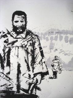 'Good Luck Bafana'   Silk screen print 100x70cm 2013