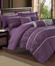 Loving this Plum Calliope 10-Piece Comforter Set on #zulily! #zulilyfinds