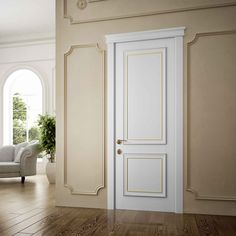 Classic door, italian classic door, wooden door, Catia collection by Romagnoli, made in italy door