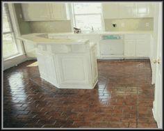 brick floors in kitchen