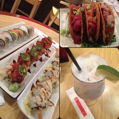 .@yourstrulygusty | #coconutmojito #salmontunatilapiatacos #sushi #Benihana | Webstagram - the best Instagram viewer