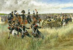 French Artillerie à pied, line regiment, Waterloo. Click on image to ENLARGE.