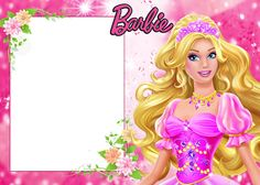 Barbie: Invitaciones y Marcos para Imprimir Gratis.